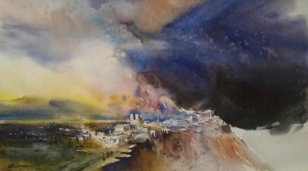 'Dark Mountain Sky'
