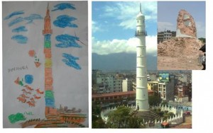 NB's daughter's painting of Dharahara