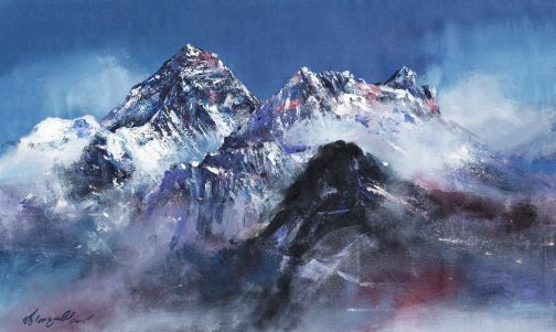 Mount Everest Acrylic Painting