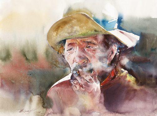 Smoking Watercolour