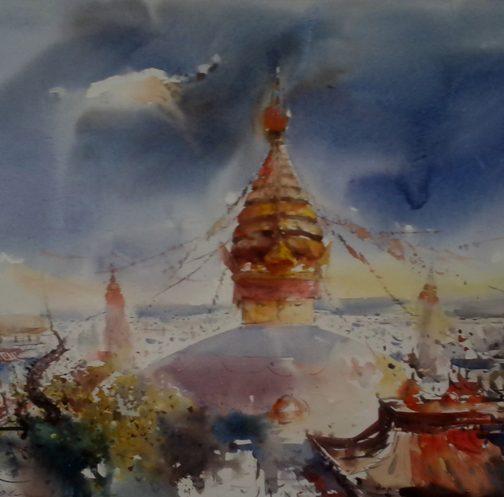 'Swyambhunath Stupa'