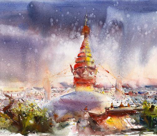 Swyambhunath Stupa Sky