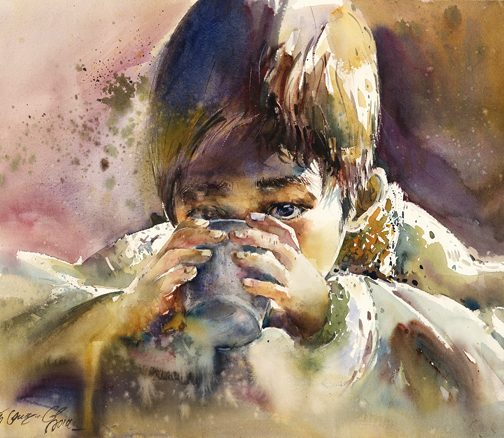 Watercolour 'Thirst'