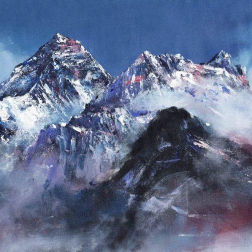 Mount Everest Acrylic Painting
