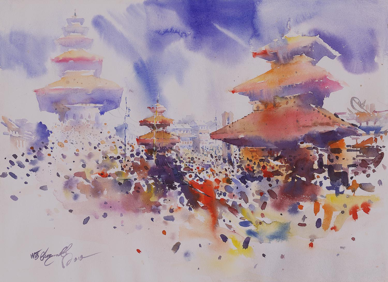 watercolour – NB Gurung Festival